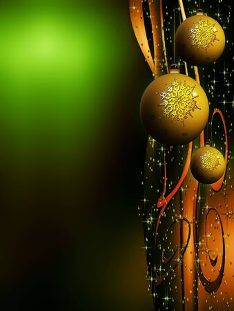 Christmas sparkling decorating bulbs with snowflakes and stardust photo