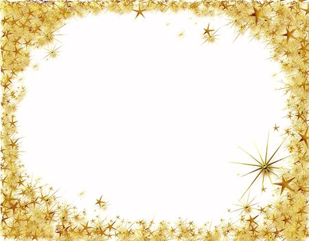 shining light: Christmas starry border,  background with copy space
