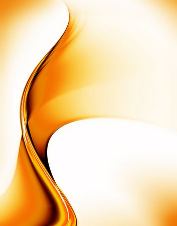 Golden motion, abstract illustration of wavy flowing energy, corporate business style Stock fotó
