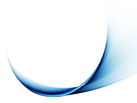 lineas onduladas: Resumen de movimiento circular de color azul sobre fondo blanco Foto de archivo