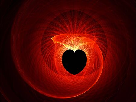 valentine heart, red net forming a heart Stock Photo - 4156180