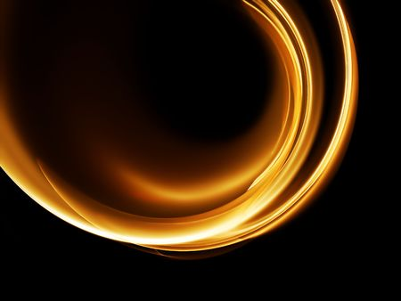 abstract illustration of golden flowing energy, corporate business style