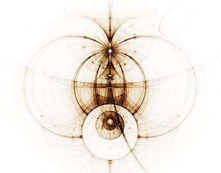 Abstract Illustration des alten Seekarte  Standard-Bild - 4274217