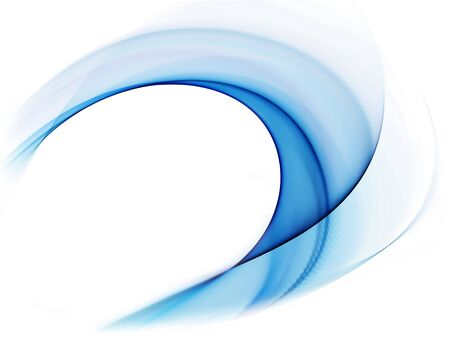 Abstract illustration of dynamic blue flowing energy, corporate business style