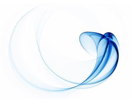 coule: Dynamic r�sum� arri�re-plan, des lignes ondul�es bleues sur fond blanc