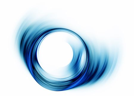 maelstrom: Blue  vortex  as a metaphor of speed and power                    Stock Photo