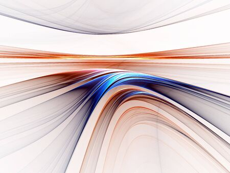 diminishing view: Abstract illustration of colorful horizon stretching off to infinity