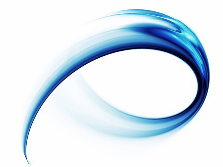 Blue speed, dynamic abstract illustration against white background 写真素材