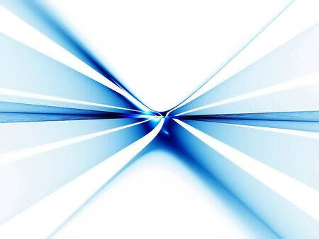 diminishing view: Abstract illustration of blue horizon  stretching off to infinity