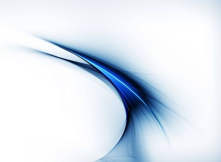 Abstract illustration of dynamic linear blue motion,  corporate business style Stock Photo