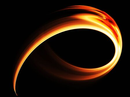 Abstract illustration of  red powerful dynamic motion on black background Stock Photo