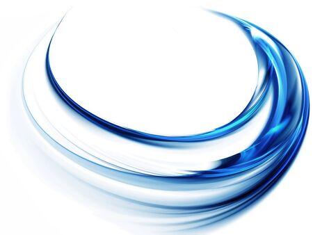 Whirlpool, blaue Vortex als Metapher der Geschwindigkeit und Leistung auf weißen Hintergrund Standard-Bild - 4541921