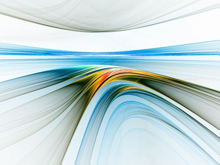 Abstract illustration of colorful linear horizon stretching off to infinity