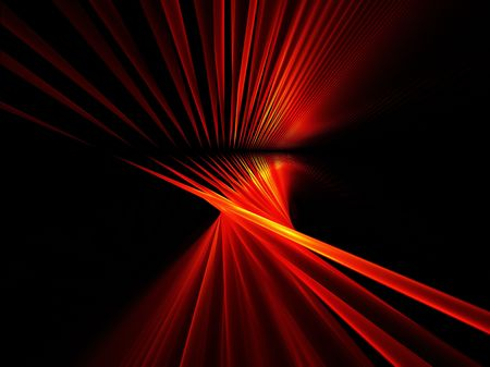 Red tubes abstract illustration on black background