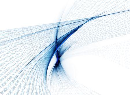 Internet concept, binary code data flow, communication Stock Photo