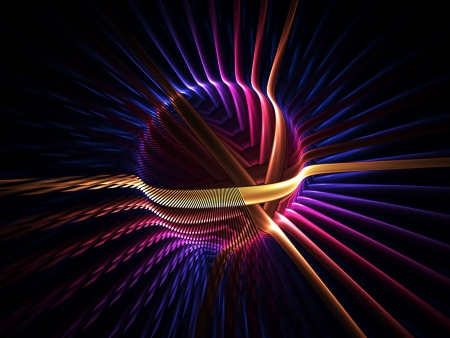 magnetic: Colorful energy ball with energy field lines Stock Photo