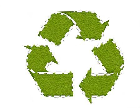 reprocessing: Recycling breakthrough, environmental concept, abstract illustration
