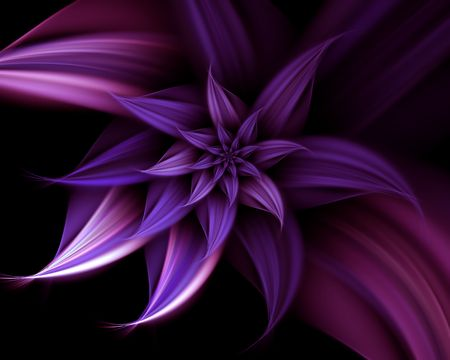 fractal pink: Abstract illustration of elegant fantasy flower