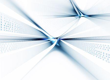 Internet concept, binary code data flow, communication 写真素材