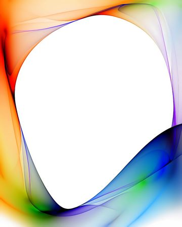 Colorful frame with copy space   on white background