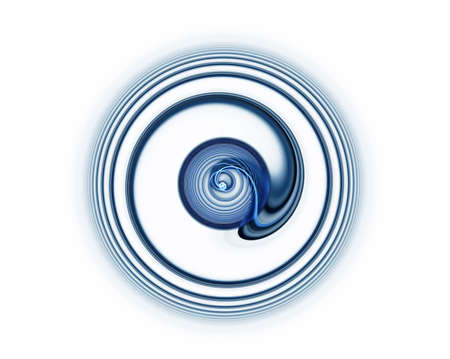 maelstrom: Whirlpool, blue vortex as a metaphor of speed and power on white background