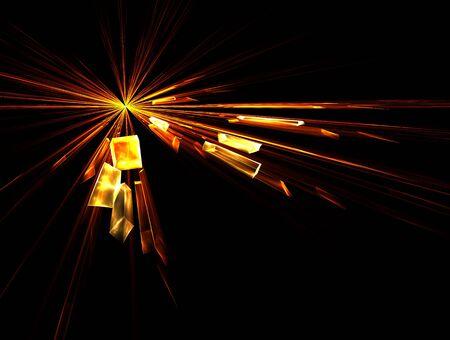 Explosion, broken glass, burst of light, photo