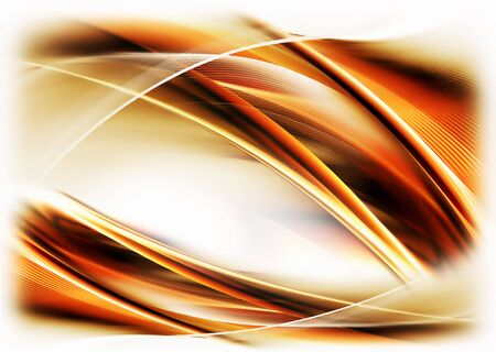 Abstract illustration of dynamic fiery wavy motion  on white background illustration