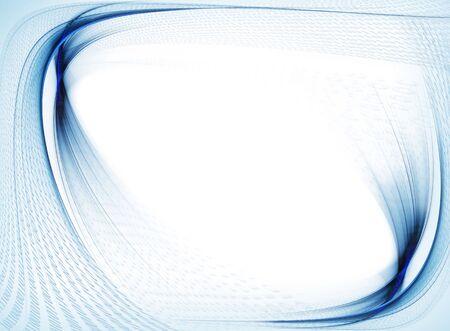 Internet-Konzept, Binärcode Datenfluss, blauer Rahmen mit Wellenlinien Kopie Platz auf weißem Hintergrund Standard-Bild - 5006352