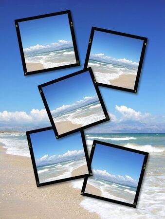 horison: Film plates with summer horison image, high detail