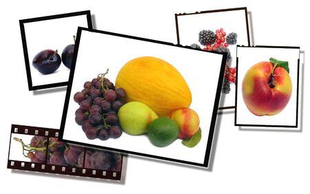 Sanos y frescos imágenes de la película tira de los alimentos y los platos de cine, de alto detalle Foto de archivo - 5063887