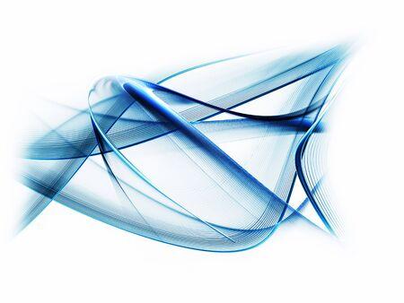 Abstract illustration of blue wavy motion   on white background Stock Illustration - 5236835