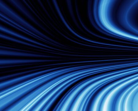 blue abstract  tunnel, abstract  illustration Stock Illustration - 5263063
