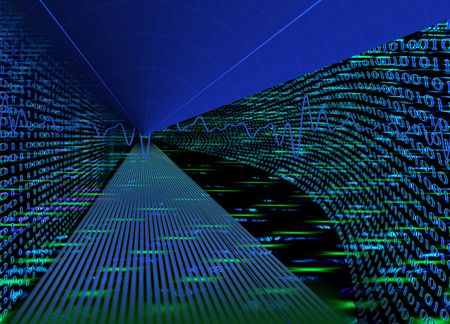 Internet concept, binary code data flow, technology style background Stock Photo - 5319053