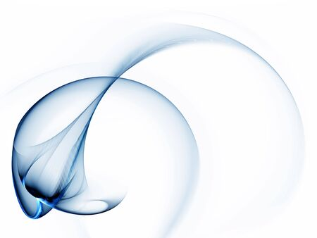 Dynamic blue abstract motion, background  blue wavy motion on white background 写真素材