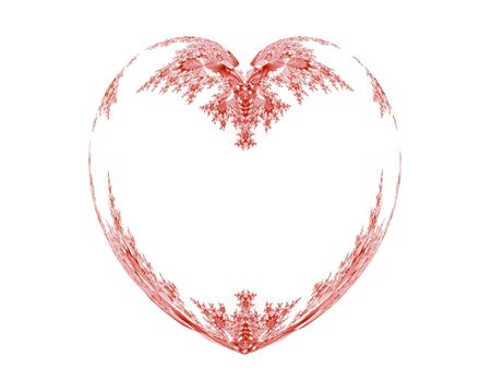 valentineday: ornamental vintage heart frame on white background Stock Photo