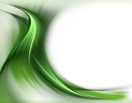 Elegant green spring leafs on  white background   with copy space       Stock fotó