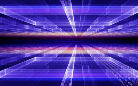 Internet concept, binary code data flow, communication, technology-style background Stock Photo - 6503598