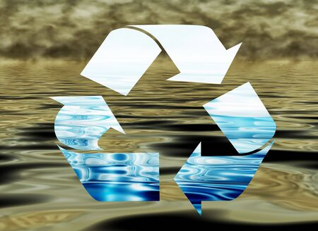 environmental awareness: Environmental concept, water protection, clean and polluted water