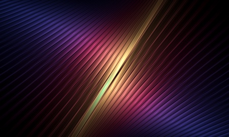 Abstract illustration of bright colorful tubes on black background 写真素材