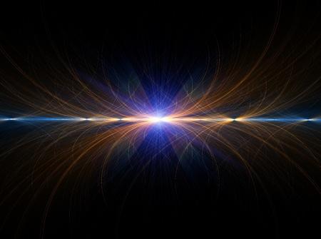 magnetismo: Elettricità, ad alta tensione, illustrazione astratta