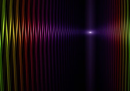 vivid color: perspective vivid color tubes on black background, abstract illustration Stock Photo