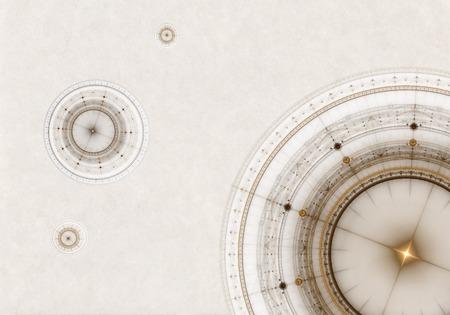 Oud perkament met kompas, abstracte illustratie van oude nautische reizen apparatuur Stockfoto - 37680482
