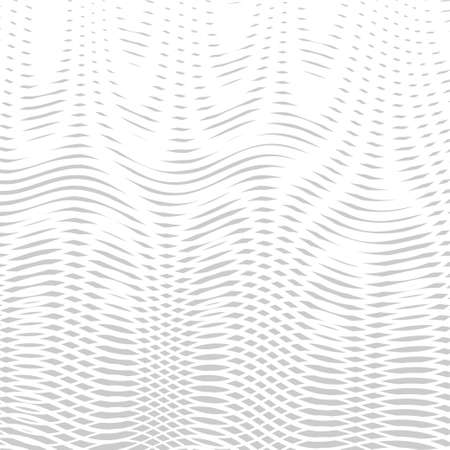 White monochrome fluidity background with moire effect. Linear blending design. Can be used as design of cover books, websites, accessories for phones and tablet, mobile applications, titl