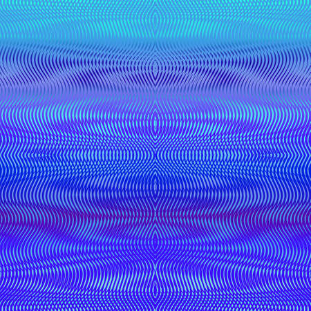 Symmetric fluidity linear moire effect oin phantom blue texture. Abstract trendy colorful tbackground in bright neon design. For your creative project design cover, book, printing, gift card, fashion.