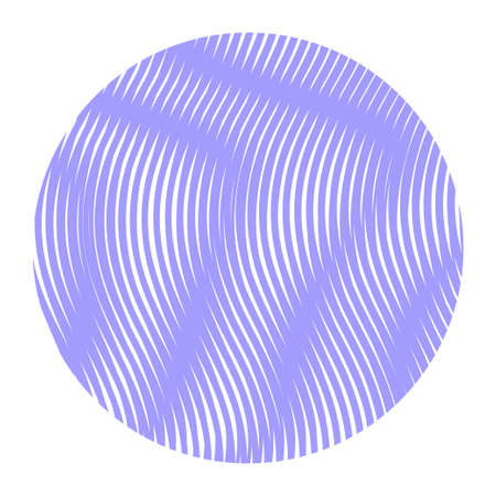 Abstract monochrome vector circle form with wavy lines with moire effect. Can be used as design of books, websites, accessories for phones and tablet. Background for title, image for blog.