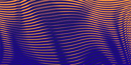 Dark abstract linear background with effect of crumpled curved surface. For creative digital texture for web sites, interior design, business cards, banners, posters, mobile app. Line art,