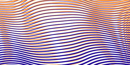 Abstract linear colored texture with effect of crumpled curved surface. Creative vector background for web sites, interior design, business cards, banners, posters, mobile app.