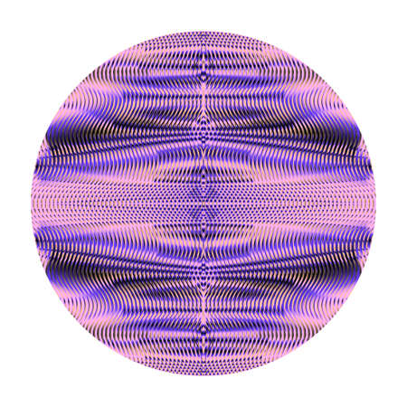 Linear geometric symmetric ornament in form of circle. Mystical abstract element for creative design mobile applications, websites, accessories for phones and tablet, cover, image for blog.