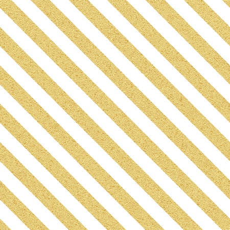 Gold glittery seamless stripes, lines pattern on white background.
