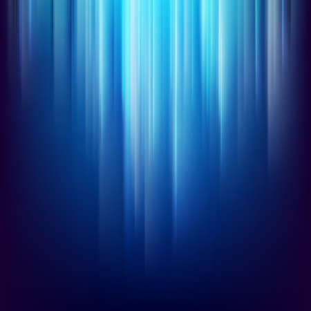 Abstract dark space background with glowing blue light lines.